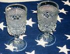 ANCHOR HOCKING WEXFORD 8 OUNCE WATER/WINE GOBLETS, WITH STEM 6 1/2 INCHES TALL