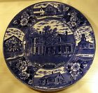 W. Adams & Son Flow Blue President Coolidge Home in Plymouth, Vermont Plate