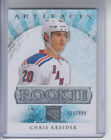 12 13 UD Artifacts New York Rangers Chris Kreider Rookie card #186 Ltd #653 999