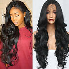Synthetic Lace Front Wigs Natural Black Hair Body Wave Glueless Fashion Women