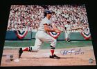 CARL YASTRZEMSKI YAZ SIGNED AUTOGRAPHED BOSTON RED SOX 16x20 PHOTO JSA W HOF 89