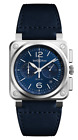 Bell & Ross BR 03-94 BLUE STEEL Automatic Brand New! Box & Papers Included!