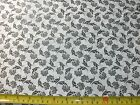 1 2 Yd Black  White Quilt Fabric Floral Flowers Flower Black on White