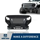 Hooke Road Mad Design Front Bumper w Grill Guard for Jeep Wrangler JK JKU 07 18