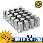 24 Chrome 1 2 20 Lug Nuts Bulge Acorn for Jeep Wrangler Cherokee TJ YJ JK CJ ZJ