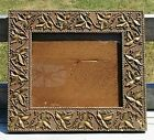 Antique Folk Art Picture Frame Primitive  mid 1800's Wood Gilded