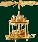 1 Tier Nativity Natural German Wood Christmas Pyramid