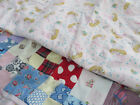 Vtg Antique Patchwork Crib Quit Juvenile Baby Feedsack Novelty Prints 42X33