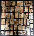 CTMH DOTS JRL HUGE MIXED LOT 390 RUBBER STAMPS SETS FLOWERS HOLIDAYS KIDS FOOD