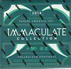 2018 IMMACULATE COLLEGIATE FOOTBALL HOBBY BOX FACTORY SEALED