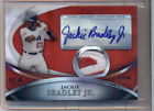 JACKIE BRADLEY JR 2010 BOWMAN STERLING USA REFRACTOR AUTO PATCH 1 1 RED SOX