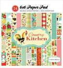 Carta Bella Double Sided Paper Pad 6X6 24 Pkg Country Kitchen 752830102224