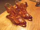 SET OF 2 Fenton Art Glass HOBNAIL CAT SLIPPERS OR SHOES