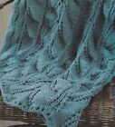 Knitting Pattern ~ Lacy Fern Afghan ~ Instructions