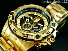 Invicta Marvel 52mm Bolt Viper Limited Ed BLACK PANTHER 18K Gold Plated SS Watch
