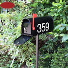 A9 Black Iron Stand Lockable Retro Post Home Balcony Garden Letter Box Mailbox