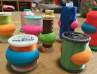 Lot of 48 Embroidery Sewing Machine Thread Spools Huggers Peels Mess Free Thread