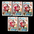 1982 TOPPS #488 JOE MONTANA HOF LOT OF 5 NMMT F151106