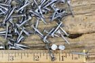 """ square NAILS 50 quantity round small flat head brads vintage antique style"