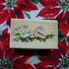 Christmas Holly Elf Rubber Stamp Susan Branch Vintage All NIght Media
