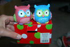 NEW IN BOX Hootie Cutie Owl Salt and Pepper Shaker Set Pink and Blue