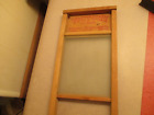 WOOD AND GLASS VICTORY WASH BOARD SMALL SIZE