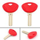 2PCS Blade Blank Key Motorcycle For BMW R1200R K1300S R1200GS Red US T1