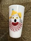 Vintage Anchor Hocking Milk Glass with Clowns on both Sides