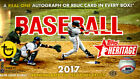 2017 Topps Heritage Baseball Hobby Box Sealed 24 Packs 9 Cards Each
