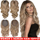Women's 100% Remy Human Hair Topper Toppiece Clip In Hairpiece Extensions Toupee