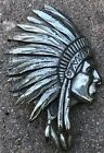 Cecil B DeMille North West Mounted Police Native American Chief Head Pin Brooch