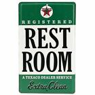 Embossed Texaco Rest Room Sign - for Gas Stations Man Caves Garages