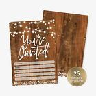 25 Rustic Youre Invited Fill in Party Invitations and Envelopes Bridal Shower