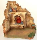 FONTANINI Village Scene with working lighted FIRE PLACE Roman Inc 2111
