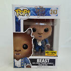 New Disney Flocked Beauty And The Beast Funko Pop 243 Figure Hot Topic Exclusive