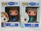 Funko Pop Disney Frozen Princess 81 Anna 82 Elsa Vinyl Doll Toy Figure Set Lot