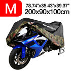 M Motorcycle Cover Waterproof Scooter Dirt Moped Bike Dust Protection Camouflage
