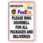 OnTrac Ring Doorbell For Packages And Deliveries Metal Sign 5 SIZES SI175