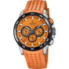 New Festina 2018 Chrono bike Rubber Band Orange  F20353/B  Watch