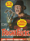 1988 Topps issue of Fright Flicks empty display wax pack box