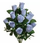 Roses Buds x 14 Lots of Colors Silk Flowers Wedding Bouquets Centerpieces