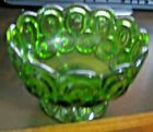 L.E. SMITH MOON AND STAR GREEN COMPOTE DISH - NO CHIPS OR CRACKS