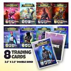 Fortnite Birthday Party Favor Trading Cards Set of 8