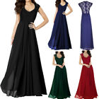 Women Lace Cap Sleeves Long Bridesmaid Dresses Evening Prom Dress Plus Size