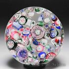 Antique New England Glass Company end of day scrambled millefiori paperweight