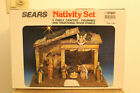 Sears 12 Nativity 10 Pieces Wood Creche Stable 3297887 Vintage Italy Made Jesus
