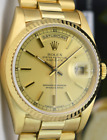 ROLEX - 36mm 18kt Gold Day Date President Champagne Stick 18238 - SANT BLANC