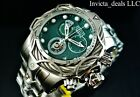 Invicta Mens Reserve 52mm Venom Bolt Swiss ETA Chronograph Green Dial SS Watch