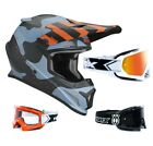 Thor Sector Mosser Crosshelm Motocross Helm camo blau TWO X Race Crossbrille