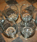 4 WATER / ICE TEA BEVERAGE STEM FOOTED GLASSES